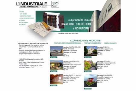 Realizzazione sito Agenzia Immobiliare L'Industriale di Piove di Sacco – Padova