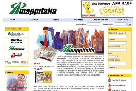 Realizzazione sito web Mappitalia di Padova
