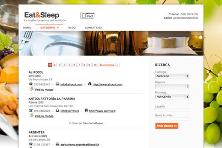 Realizzazione sito di guide ristoranti cantine alberghi