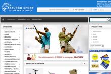 Realizzazione sito E-commerce azzurrosport